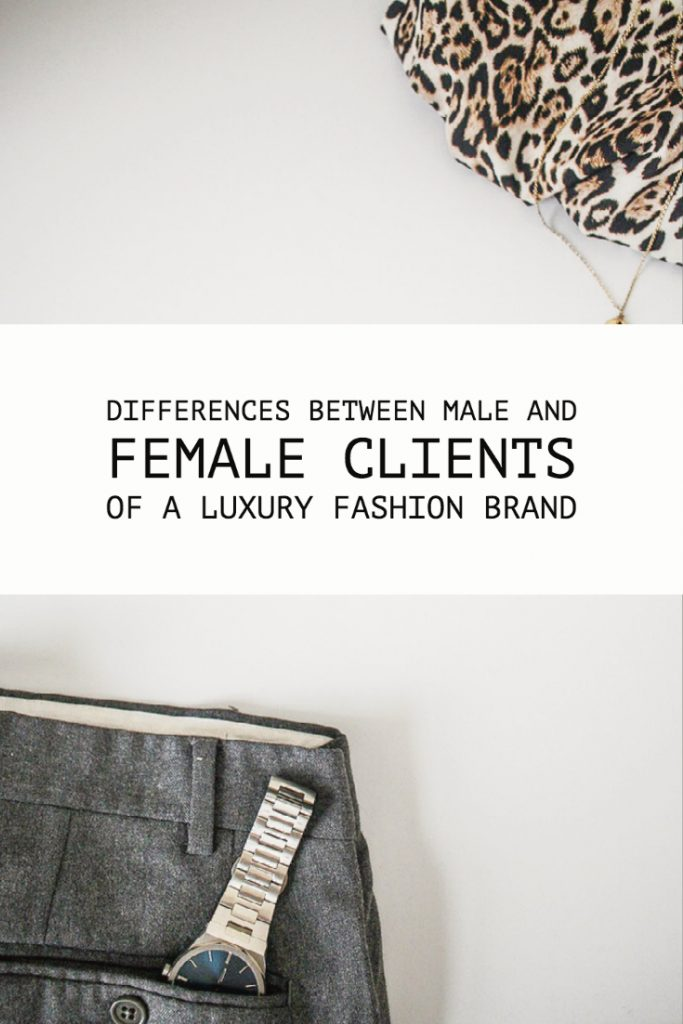 Differences Between Male And Female Clients Of A Luxury Brand