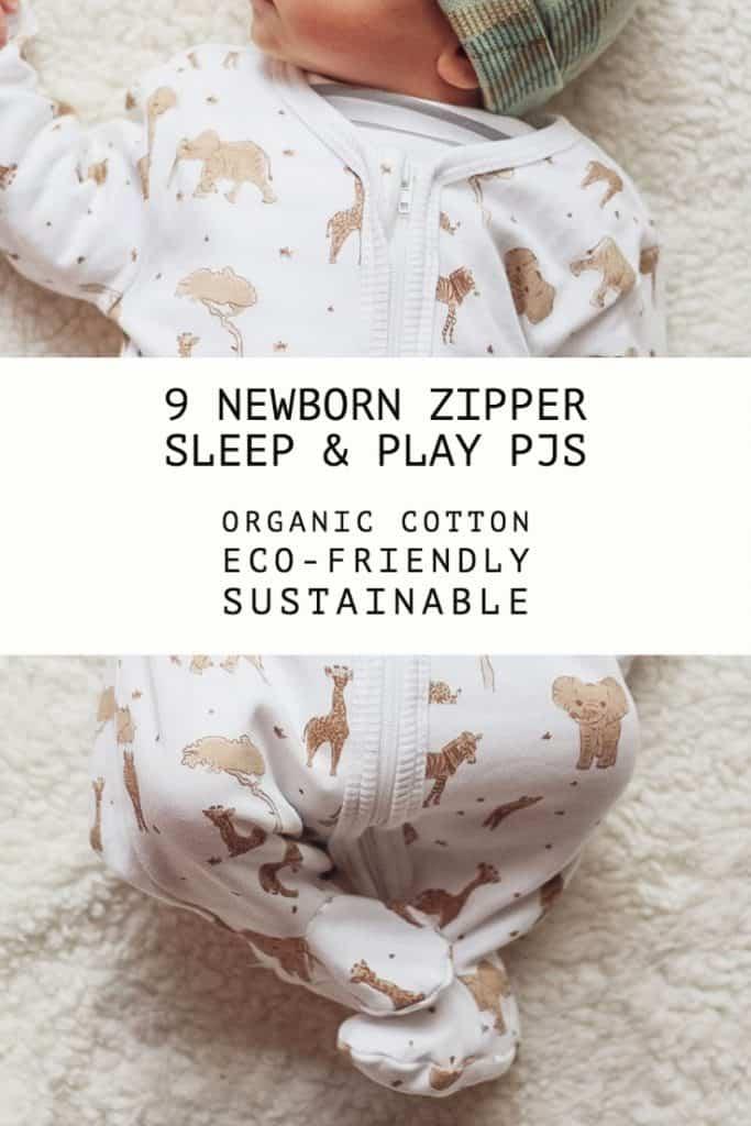 9 Sustainable, Organic Newborn Zipper Onesies