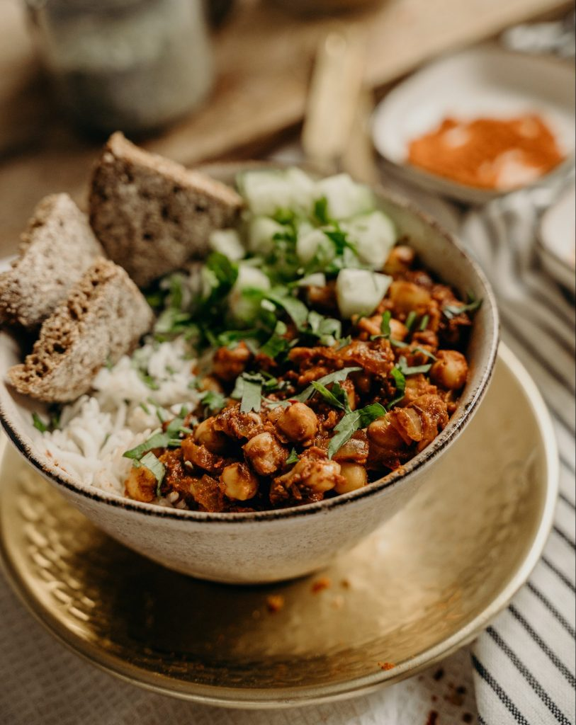 curry comfort food vegan
