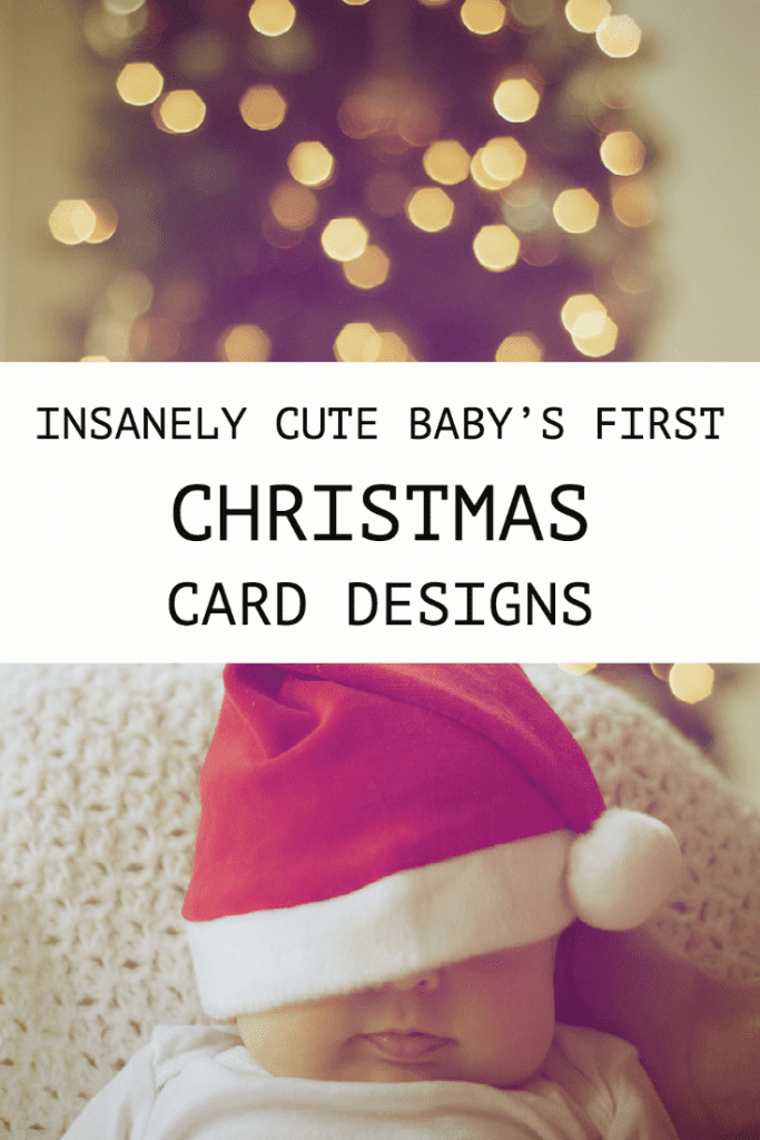 Insanely Cute Baby's First Christmas Card Designs
